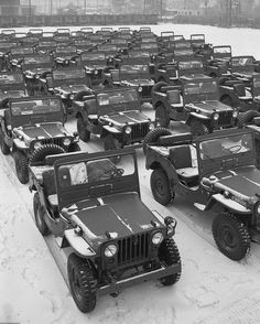 Brand new off the line WW2 Jeeps ready to take part in the war!!