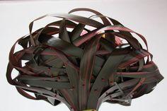 Weven met Formium blad, vastgezet met spelden