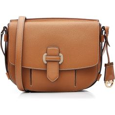 Michael Michael Kors Romy Medium Leather Crossbody Bag (€235) ❤ liked on Polyvore featuring bags, handbags, shoulder bags, multicolor, crossbody shoulder bags, crossbody handbags, brown crossbody purse, shoulder strap bag and brown leather handbag