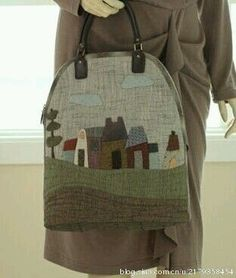 Blog Japanese Patchwork, Japanese Bag, Japanese Quilts, Patchwork Bags, Quilted Bag, My Bags, Purses And Bags, Craft Bags, Types Of Purses