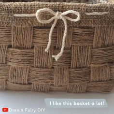See how to make a basket of jute with your own hands. home decor basket WICKER BASKET Diy Crafts For Home Decor, Diy Crafts Hacks, Diy Crafts For Gifts, Diy Arts And Crafts, Creative Crafts, Handmade Crafts, Handmade Rugs, Easy Crafts, Jute Crafts