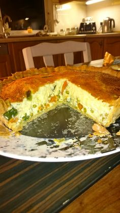 Spring vegetable quiche. Very tasty.