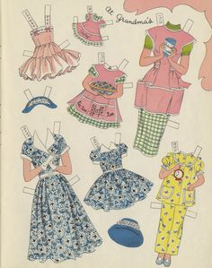 """Betsy McCall's Paper Doll Story Book A Golden Book 1954   """"At Grandma's"""""""