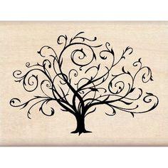Inkadinkado Flourished Fall Tree Wood Stamp for Arts and Crafts, W x L Beautiful Tattoos, Cool Tattoos, Tatoos, Petit Tattoo, Tattoos Familie, Quilled Creations, 1 Tattoo, Wrist Tattoo, Swirl Tattoo