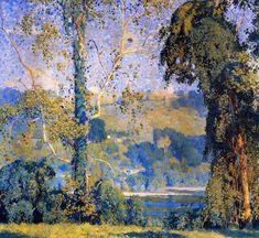 Impressionist Landscape, Impressionist Artists, Landscape Art, Landscape Paintings, Comics Illustration, Illustrations, Hope Art, Art Gallery, American Impressionism