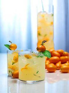 The Capri    1 ounce gin  1/2 ounce limoncello  5 kumquats  4 fresh mint leaves  3 dashes orange bitters  Splash of soda