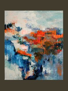 """Original Impasto Abstract Expressionist Painting """"Dream On"""" 20x24 Canvas by Linda Haywood. $159.00, via Etsy."""