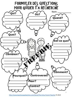 Ontario Social Studies and the Inquiry Process, Grades French Teaching Resources, Teaching French, Teaching Ideas, Ontario, French Worksheets, French Education, French Grammar, Core French, Inquiry Based Learning