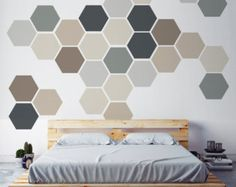Geometric Wall Art geometric wall art, removable wall sticker. fabric self adhesive