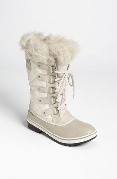 Shop Women's Sorel Flat boots on Lyst. Track over 754 Sorel Flat boots for stock and sale updates. Sorel Tofino Boots, Sorel Boots, Nylons, Kids Boots, Nordstrom Boots, White Boots, Leggings, Comfy Shoes, Shoes