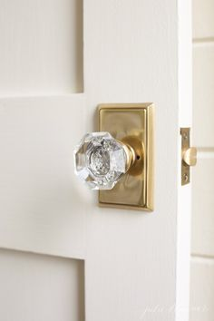 emtek providence crystal door knob set with square rose hardware