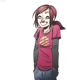 Ellie (The Last of Us) by Faith Erin Hicks Joel And Ellie, The Last Of Us, Edge Of The Universe, I Love Games, Video Game Art, Best Games, Videogames, Power Rangers, Legend Of Zelda
