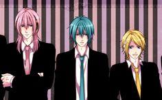 Lataa kuva Vocaloid, anime merkkiä, Kaito, Len Kagamine, Akaito