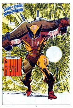 """Wolverine (from Marvel Comics Presents #5 - October 1988) by John Buscema - """"I'm dyin'!"""""""