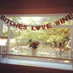 Banner for Beth's wine country bachelorette party.