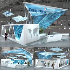 Exhibit booths for trade-shows created by TriadCreativeGroup.com inspired by… Exhibition Stall, Exhibition Stand Design, Exhibition Display, Trade Show Booth Design, Display Design, Stand Feria, Environmental Design, Showcase Design, Stage Design