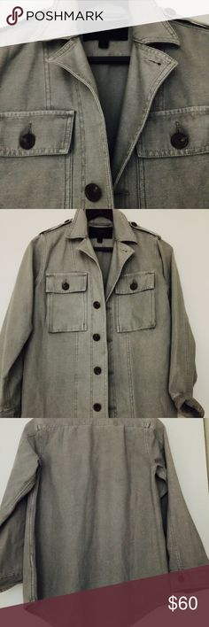 J.Crew Military shirt jacket Brand new without tags Jcrew Military inspired shirt jacket with epaulets and cargo chest pockets. Great shade of faded green. Size 0. Great over a tee or a tank top. Heavy Cotton perfect for a chilly night. J. Crew Jackets & Coats Utility Jackets