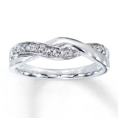 Diamond Ring 1/8 ct tw Round-cut 10K White Gold  Stock number: 531708004