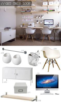 home office inspiration http://www.patriciaalberca.blogspot.com