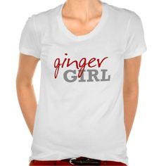 Ginger Girl Redhead Freckles Tee Shirt