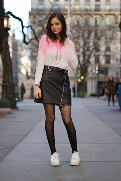 Women S Fashion Kingston Fashion Tights, Tights Outfit, Pantyhose Outfits, Nylons, Pvc Skirt, Trendy Outfits, Fashion Outfits, Skirt And Sneakers, Girls In Mini Skirts