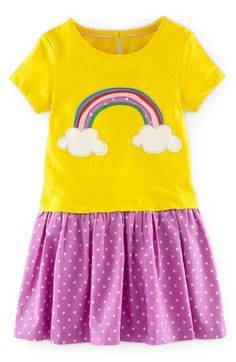 Mini Boden 'Hotchpotch' Appliqué Dress (Toddler Girls, Little Girls & Big Girls) available at #Nordstrom