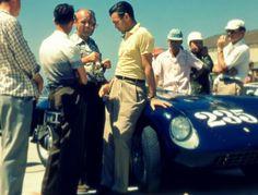 At the Goleta airport near Santa Barbara over Labor Day weekend in 1954. Porfirio Rubirosa and Ferrari Mondial. Zsa Zsa went along for a ride. http://www.pinterest.com/atticatalley/zsa-zsa-esque/