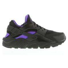 Nike Huarache Black And Purple ❤ liked on Polyvore featuring shoes, nike, sneakers, huaraches, nike shoes, purple shoes, kohl shoes and nike footwear