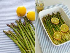 LoveAndLilies.de // Grüner Spargel mit Zitronen und Grüner Spargel aus dem Ofen mit Zitronenvinaigrette