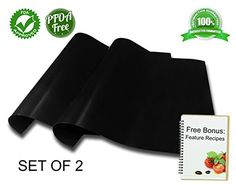 BBQ grill mats, set of 2, as seen on TV, FDA approved, PFOA free, durable non-stick, best for gas, charcoal or electric grills, ideal as baking liner, premium quality, Free Bonus, 100% Guaranteed Vividso http://www.amazon.com/dp/B00T0R0ZNG/ref=cm_sw_r_pi_dp_h7H3vb1ME7Q7B