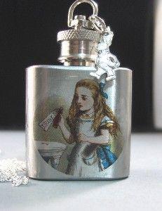 "Alice in Wonderland:  #Alice #in #Wonderland ""Drink Me"" flask."