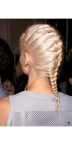 Updo Idea: Braided Start your French braid high, then finish with a small bow.