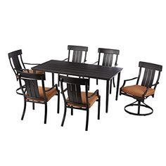 Small Brick Patio, Small Patio Design, Outdoor Dining Set, Outdoor Areas, Outdoor Living, Dining Sets, Outdoor Decor, Wicker Dining Chairs, Patio Furniture Sets