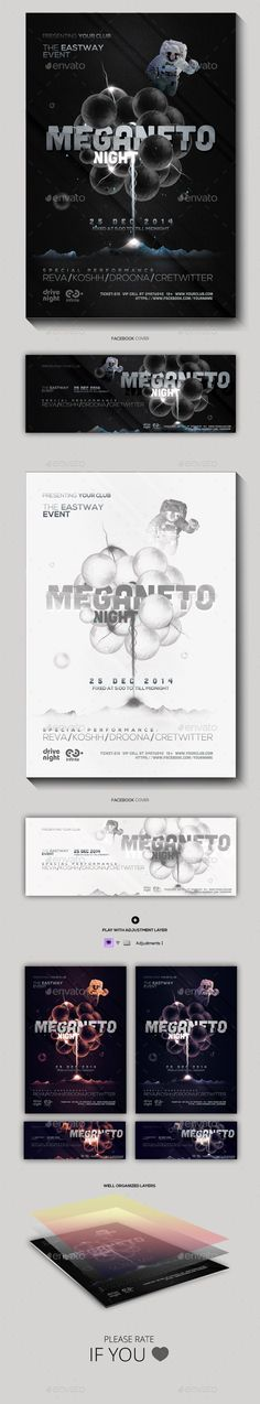 Magneto Night Party Flyer