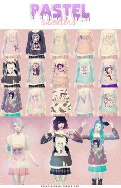 Pastel Sweaters by Hikarii*recolor* Pastel Sweaters - [By HikariiChaan].package