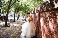 Tracy and Michael's wedding was an intimate occasion, with a sense of old romance in a classic theme. The Olde Bar was the perfect fit as a venue for this couple, and we loved seeing the backdrops in the red booths of the bar and stained glass entrance. Love Me Do photography expertly captured the