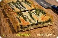 ..Tarte aux asperges et au parmesan..