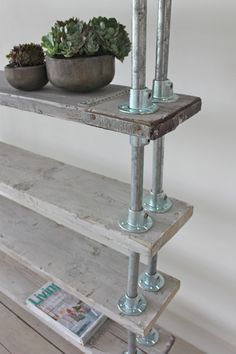 Reclaimed Whitewashed Scaffolding Boards and by inspiritdeco
