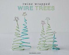 我們看到了。我們是生活@家。: 可愛的電線纏繞聖誕樹!美國的Landee See, Landee Do