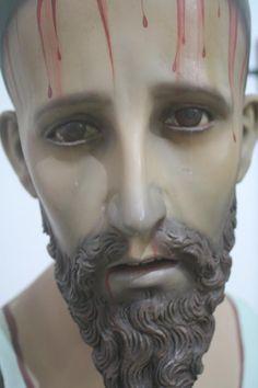 Jesús Nazareno, de Manuel, Lico, Rodríguez, talla en madera de vestir, pintura reciente, Parroquia de Esparza, Puntarenas, Costa Rica