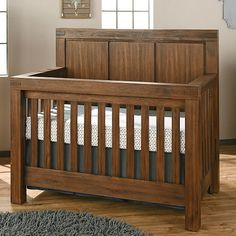 "Oxford Baby Piermont 4-in-1 Convertible Crib - Rustic Farmhouse Brown - Oxford Baby  - Babies""R""Us"