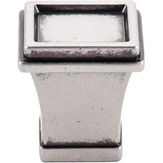 """Great Wall Tapered Knob 1"""" Pewter Antique - Pewter Antique"""