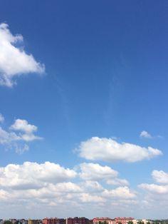 Welcome back summer  #summer #bluesky #landscape #clouds #sun