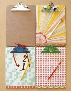 back-to-school-crafts- School clipboards