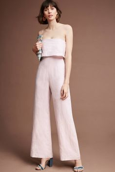 I'm gonna need this Anthropologie Popover Linen Jumpsuit