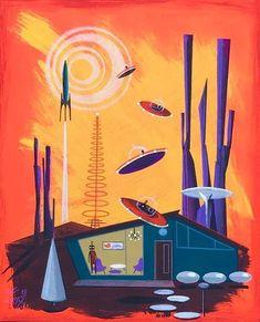 Tagged with art, artwork, imagination, art deco, science fiction art; Shared by Science Fiction Art 60s Art, Retro Art, Mid Century Modern Art, Mid Century Art, Futurism Art, Science Fiction Art, Vintage Posters, Retro Posters, Vintage Art