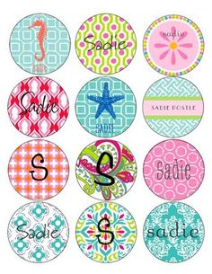 CUTE personalized labels