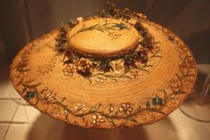 Bergere hat, France, 1760's, from the Victoria and Albert Museum/accompanying article