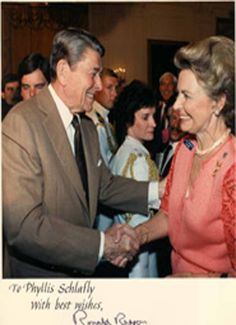 Ronald Reagan and Phyllis Schlafly
