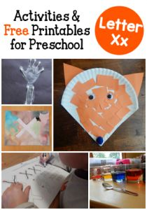 Looking for fun, hands-on letter X activities for preschool? Take a peek at our week! Toddler Activities Daycare, Preschool Learning Activities, Preschool Lessons, Preschool Ideas, Toddler Crafts, Kids Crafts, Craft Ideas, Preschool Writing, Preschool Letters